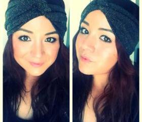 Black with gold specks turban